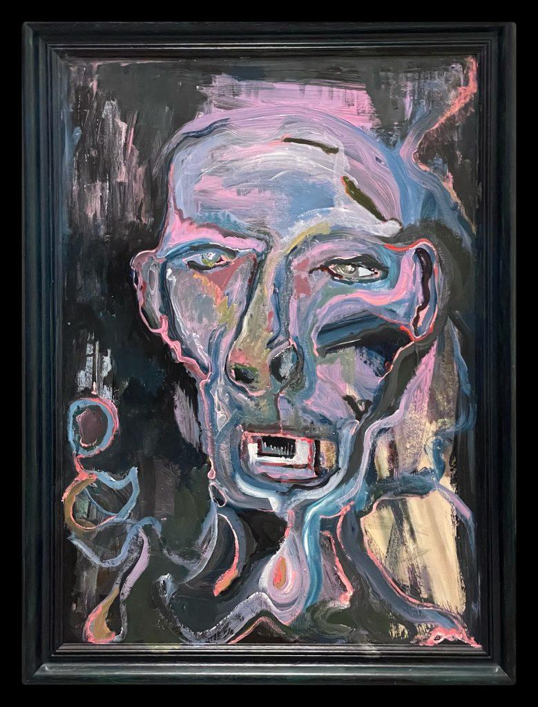 Acryl Painting Formaat 59x79 Prijs 350€. (inclusief lijst)